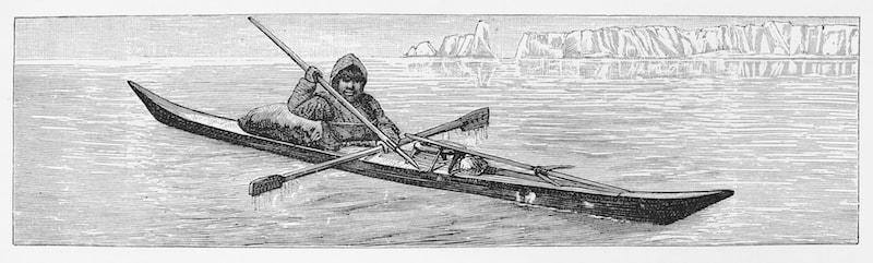 Inuit chasse en Kayak